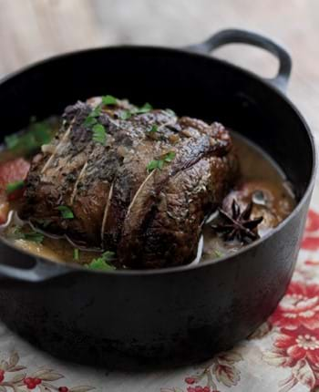 Pot Roast Beef with Plums and Star Anise (Slow Cooker version)